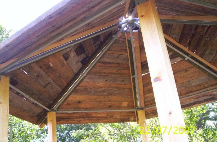 Крыша Беседки Из Дерева